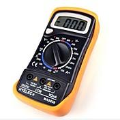 Black Yellow MAS830L Volt Amp Ohm Meter Digital Multimeter w 2 Cables