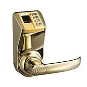 Adel fácil de instalar la cerradura única lengua huella dactilar contraseña bloqueo mecánico -3398 edición de oro