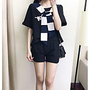 レディース 日常 夏 ブレザー パンツ スーツ,ソークオフ ストラップレス フラワー 長袖