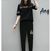 Mujer Verano T-Shirt Vestidos Trajes,Escote Redondo Manga Corta