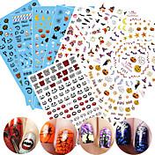 1 Adesivos para Manicure Artística Estampado Efeito 3D Artigos DIY Adesivo maquiagem Cosméticos Designs para Manicure
