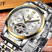 Pánské mechanické hodinky Automatické natahování Voděodolné Slitina Kapela Stříbro Zlatá Vícebarevný