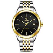 Hombre Reloj de Moda Reloj de Pulsera El reloj mecánico Chino Cuerda Manual Acero Inoxidable Banda Negro Blanco Dorado