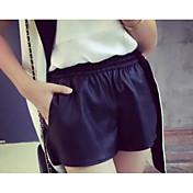 Mujer Sencillo Microelástico Pantalones Un Color