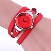Mujer Reloj de Moda Reloj Pulsera Chino Cuarzo PU Banda Cosecha Casual Elegantes Negro Blanco Azul Rojo Marrón Verde Color Beige
