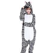 Kigurumi Pijamas Cebra Festival/Celebración Ropa de Noche de los Animales Halloween Moda A Rayas Bordado FranelaDisfraces de Cosplay