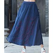 Mujer Noche Midi Faldas,Columpio Verano Estampado Bloque de Color