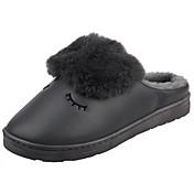 Hombre Zapatos Terciopelo Invierno Forro de piel Forro de pelusa Confort Zapatillas y flip-flops Para Casual Marrón Gris oscuro Morado