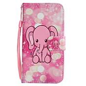 Para iPhone X iPhone 8 iPhone 8 Plus Carcasa Funda Cartera Soporte de Coche con Soporte Flip Diseños Cuerpo Entero Funda Elefante Dura