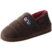 Hombre Zapatos Terciopelo Invierno Confort Forro de piel Forro de pelusa Zapatillas y flip-flops Pompón Para Casual Marrón Gris claro