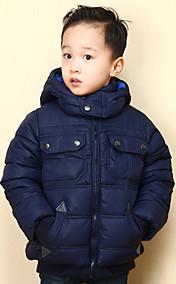 Chunyazi Lässige Solid Color Padded Coat (Marine-Blau)