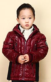 Chunyazi Lässige Solid Color Padded Coat (Red)