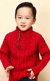 Chunyazi Elegantes Langarm-Pullover (rot)