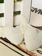 pryskyřice srdce s památku andělská křídla - naděje (sada 6)