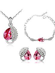 módní crystal s platinovým á šperků, včetně náhrdelník, náušnice