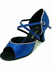 satén horní společenského tance boty peep toe latin boty pro ženy více barev