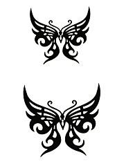 5 ks motýla vodotěsný dočasné tetování (12 m * 6 cm)
