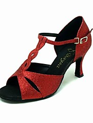 šumivé třpytky horní červené vysoký podpatek boty taneční sál latin boty pro ženy