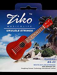 Ziko - (ds-23) vysoce kvalitní bílé nylonové struny koncertní ukulele (062-067)