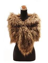 Elegantní faux fox kožešiny svatební / zvláštní příležitosti šátek / zábal