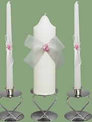 růžové růže svíčky svatební jednoty nastavení bílé (svícny není součástí dodávky)