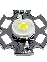 6000-6500K 1W 100-110lm 350mah bijeli LED žarulja s aluminijske ploče (3.0-3.4v)