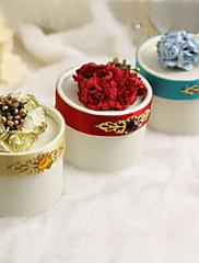 ラインストーンや花が付いている円形の好意ボックス - 12個セット(色以上)