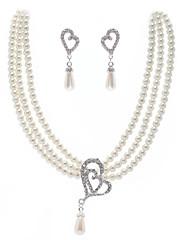 真珠♥ウェディング♥ジュエリーセット(ネックレス、イヤリング)