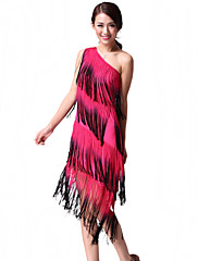 výkon dancewear chinlon s třásněmi latin dance šaty