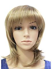 rebecca capless sladká syntetické hnědé rovné vlasy paruka s 3 barev na výběr
