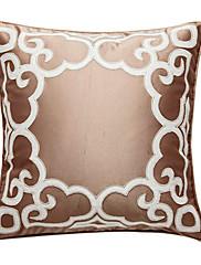 現代のカーキ色の刺繍装飾的な枕カバー