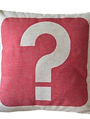 疑問符コットン/リネン装飾的な枕カバー