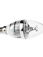 3W E14 LEDキャンドルライト C35 3 ハイパワーLED 270 lm ナチュラルホワイト 装飾用 / 明るさ調整 AC 110-130 / 交流220から240 V