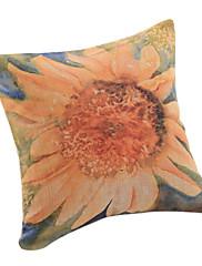 suncokretovo pamuk / lan dekorativne jastuk poklopac