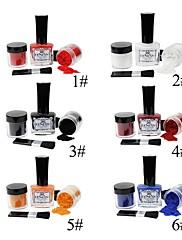 1ks plné krytí prstů barevné nehty dekorace nastavit