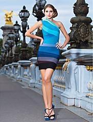 plašt / stupac jedno rame kratka / mini haljinu zavoj