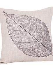 Zemlja list pamuk / lan dekorativne jastuk poklopac