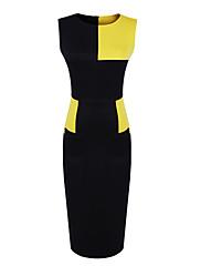 ファッションコレクションコントラスト色ジャージーベストドレス