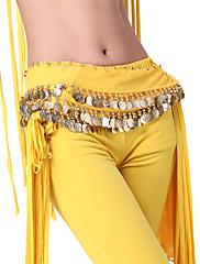 výkon dancewear šifón s mincemi pásy břišního tance pro ženy