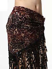 výkon dancewear tylu a samet s střapci pásem břišního tance pro ženy více barev