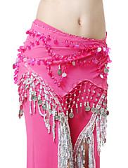 výkon dancewear šifón s mincemi pásem břišního tance pro ženy