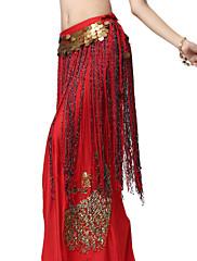 výkon dancewear šifón s dlouhou střapci pásem břišního tance pro ženy