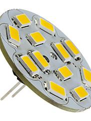 2w g4 led reflektor 12 smd 5730 135-155 lm teplá bílá dc 12 v