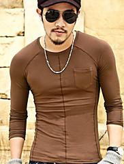 100% bavlna Pánské vybaveny dlouhý rukáv t-shirt