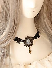 ručne ljubav crne čipke klasična lolita ogrlicu