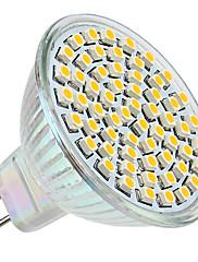 3W GU5.3(MR16) LEDスポットライト MR16 60 SMD 3528 250 lm 温白色 DC 12 V