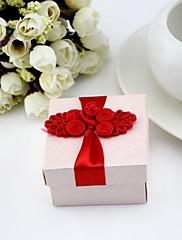 Čtvercové boxy Favor s květinami (sada 12)