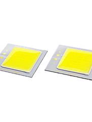 DIY 40x35mm 3W 6000-6500K 240-270LMホワイトライトCOB LEDエミッタ(2個,9-11V)