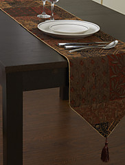 Retro styl šití na Cotton Floral Pattern Table Runner