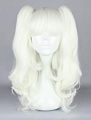 ロリータウィッグ ゴスロリータ ロリータ 中 ホワイト ロリータウィッグ 45 CM コスプレウィッグ ゼブラプリント かつら のために 女性